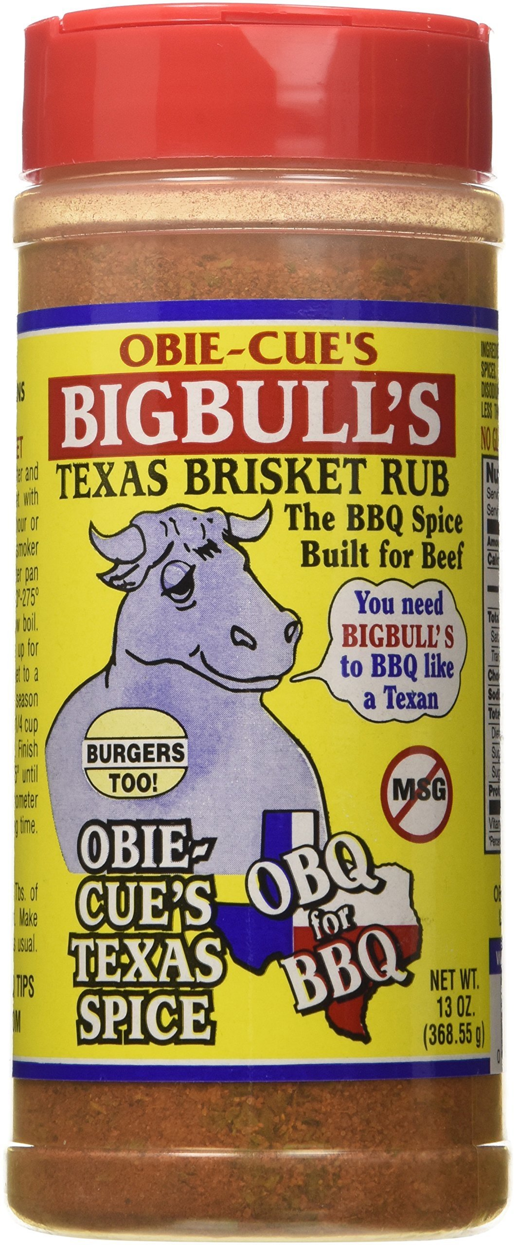 Obie-Cue's Big Bull Brisket Rub 0022702999116