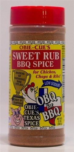 Obie-Cue's Sweet Rub BBQ Spice 12 oz. 0022702999772