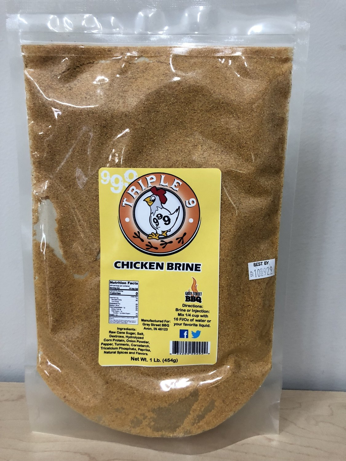 Triple 9 Chicken Brine- 1 lb