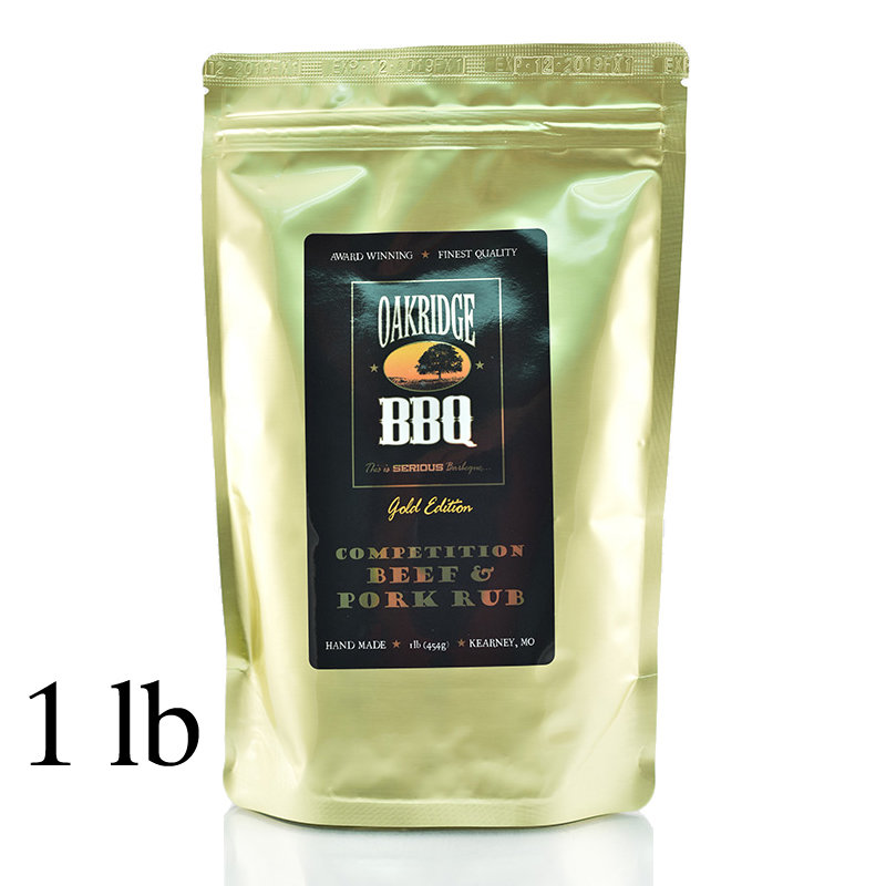 Oakridge BBQ Competition Beef & Pork Rub, 1 lb 0013964188851