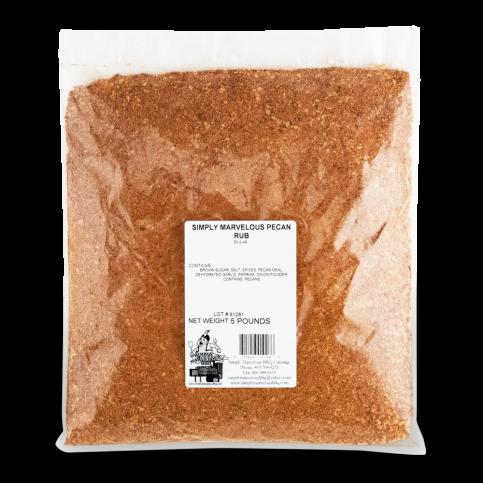 Simply Marvelous- Pecan Rub- 5lb Bag 01682