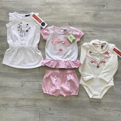 Лот №91 для девочек 6-9 месяцев 4 предмета Мультибренд/Италия