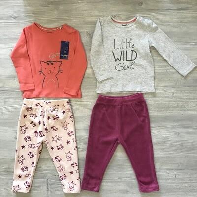Лот №114 для девочек 9-12 месяцев 4 предмета Lupilu/Германия