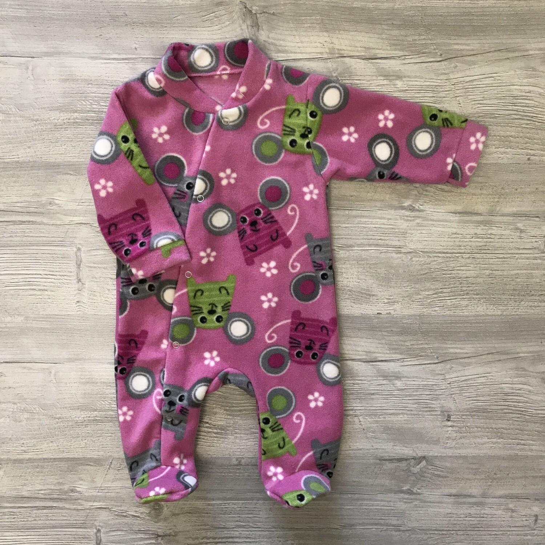Комбинезон флисовый на кнопках для малышей 3-6 месяцев Добродети/Россия