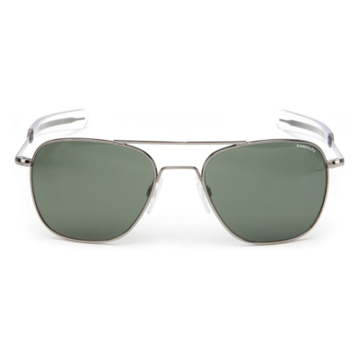 Randolph Aviator Sunglasses - AGX Green Glass