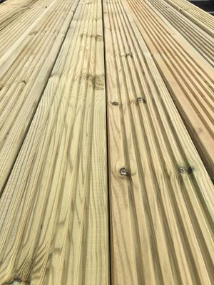 3.6m (lengths) Double-sided Tanalised Decking (120x28mm)