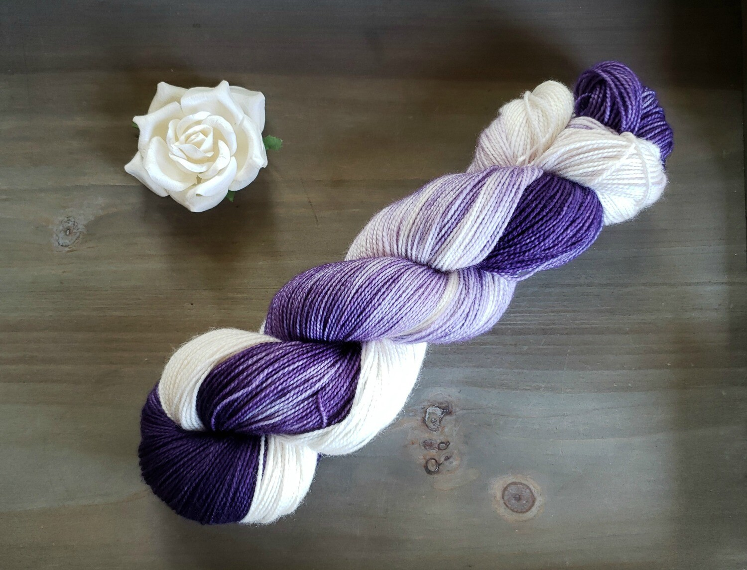 Lilac Ombre Hand Dyed Yarn