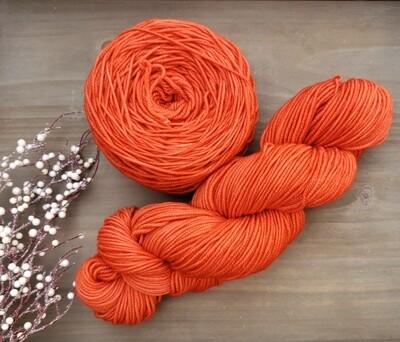 Tangerine Hand Dyed Yarn