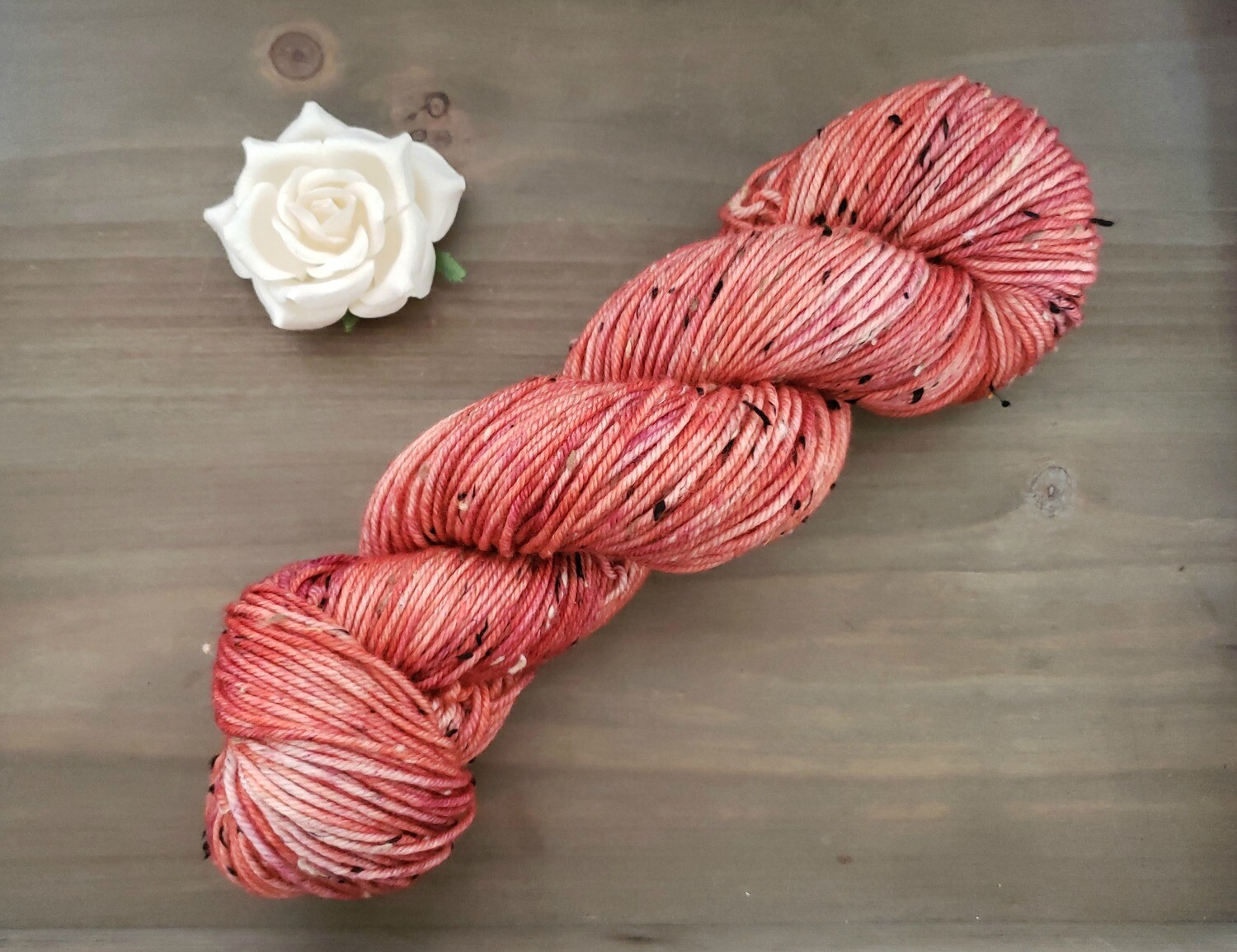 Living Coral Hand Dyed Yarn