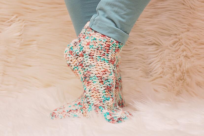 Caribbean Socks Crochet Pattern