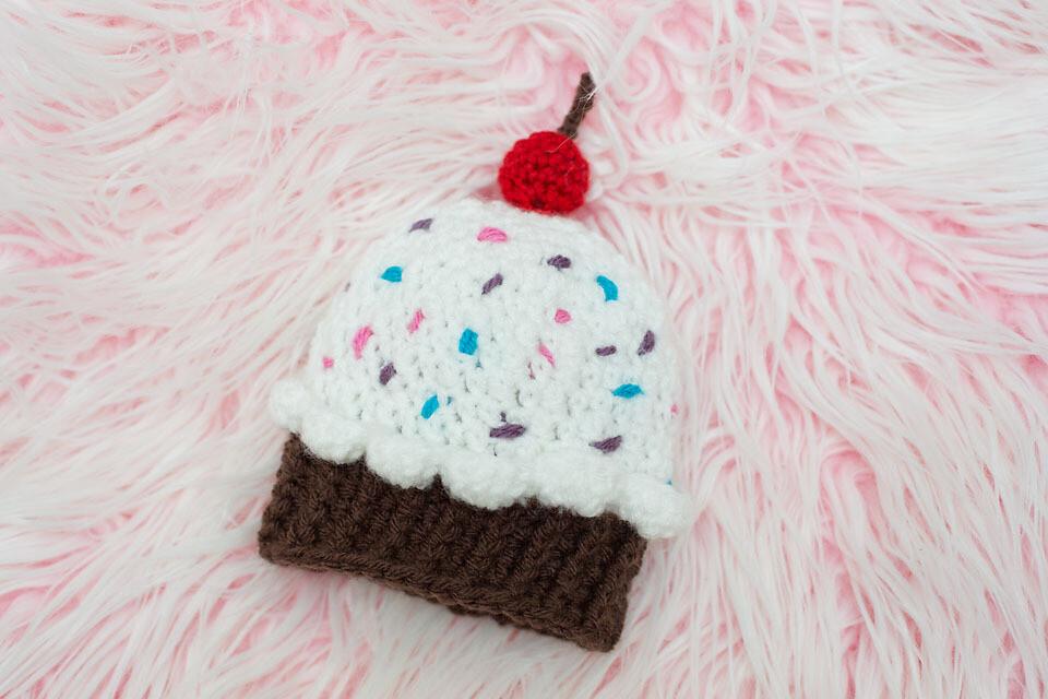 Cupcake Beanie Crochet Pattern