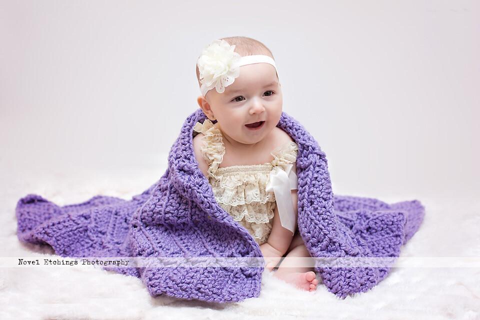 Diamond Ripple Blanket Crochet Pattern