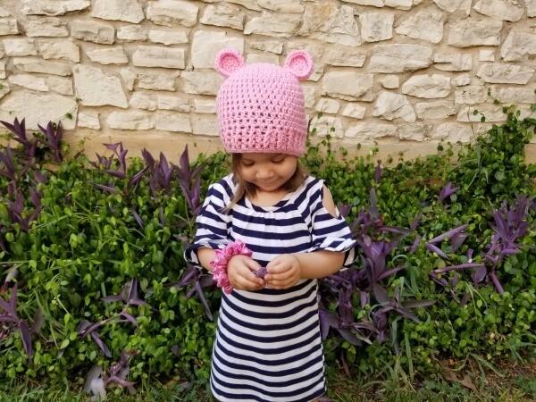 Lizzie Bear Beanie Crochet Pattern