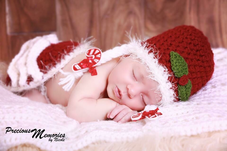 Mrs. Claus Baby Crochet Pattern