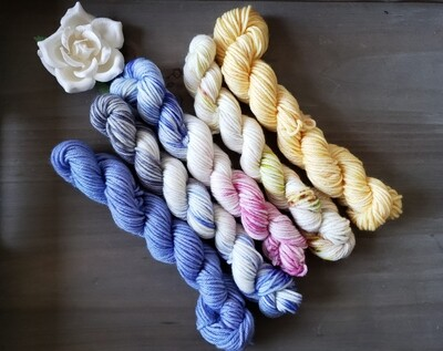 Winter Mini Skein Hand Dyed Yarn Set