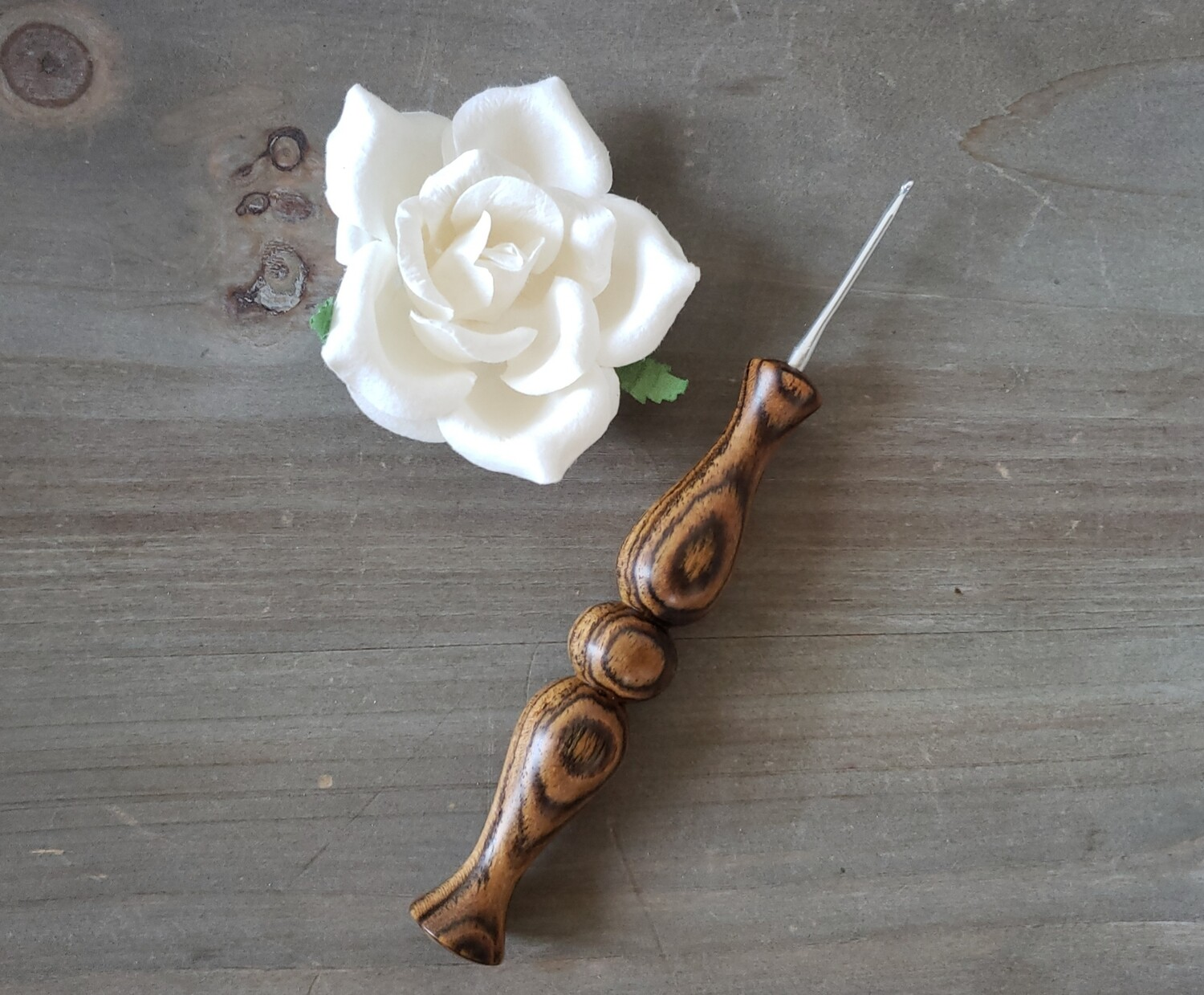 OOAK Bocote 2.25mm Crochet Hook