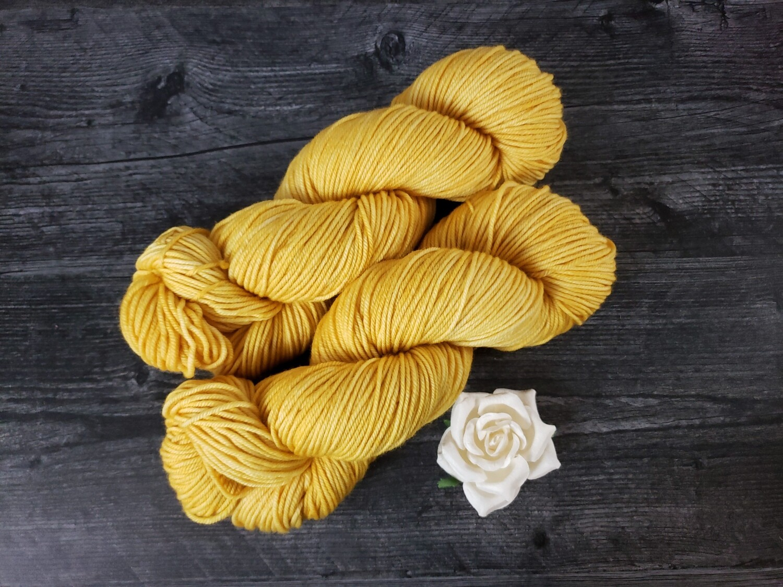 Honey Mustard Hand Dyed Yarn