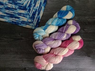 3 Skein Bluebonnet Shawl Crochet Kit - Ready to Ship