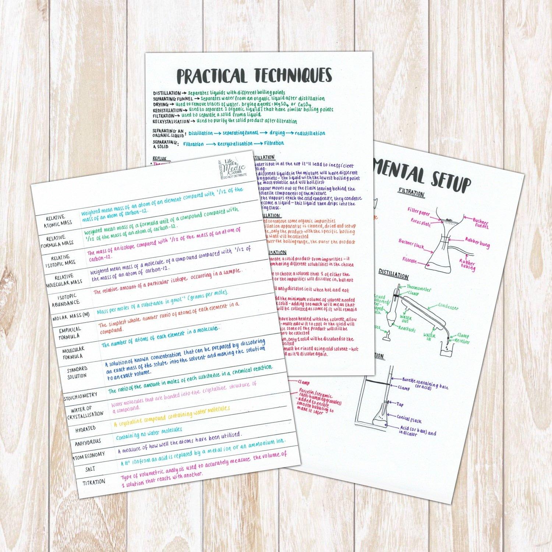 A-level Chemistry   Practical Techniques & Definitions