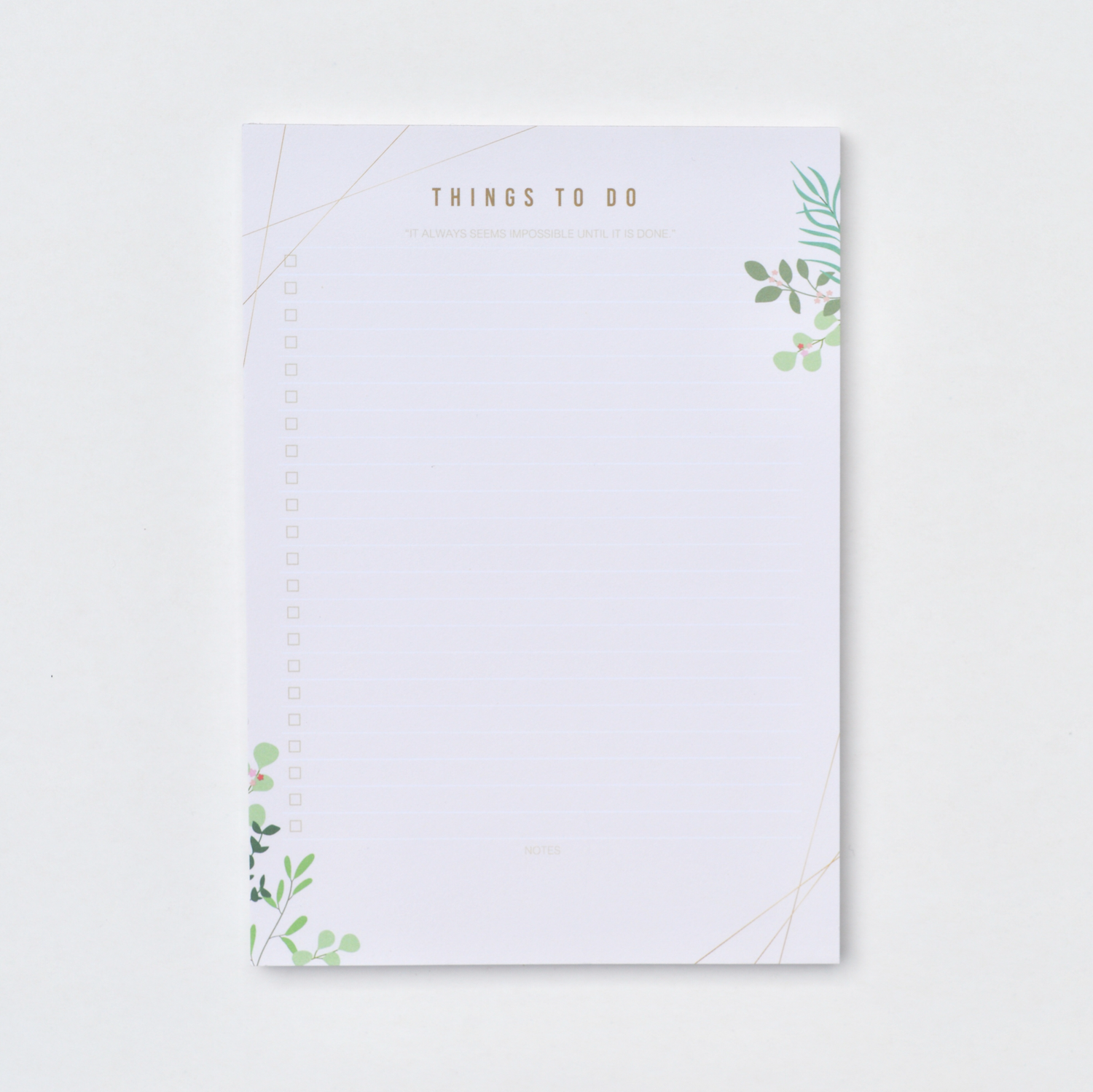 Spring Leaves   A5 To-Do List Pad