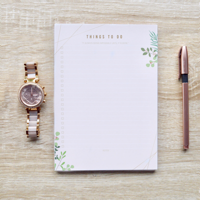 Spring Leaves | A5 To-Do List Pad