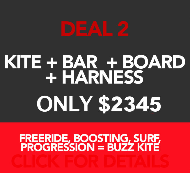 The complete kit! Kite, bar, board and harness. 00001