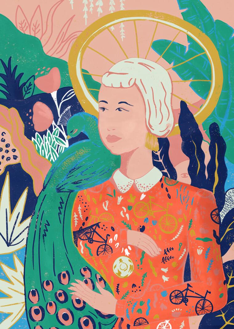 Peacock Groove Art Print