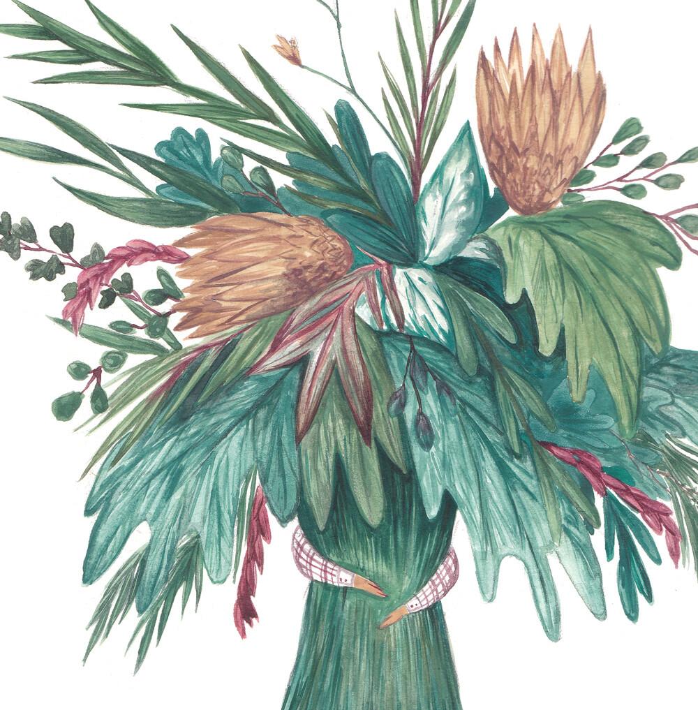 Bring you flowers  my dear Art Print
