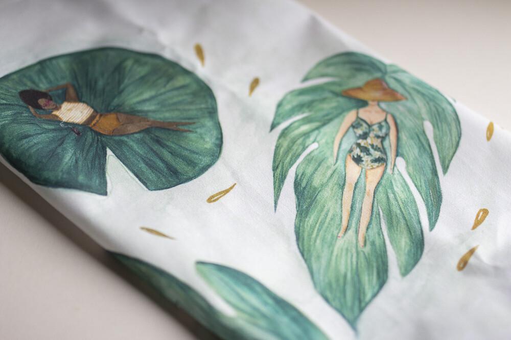 Leafy Ladies Tea Towel