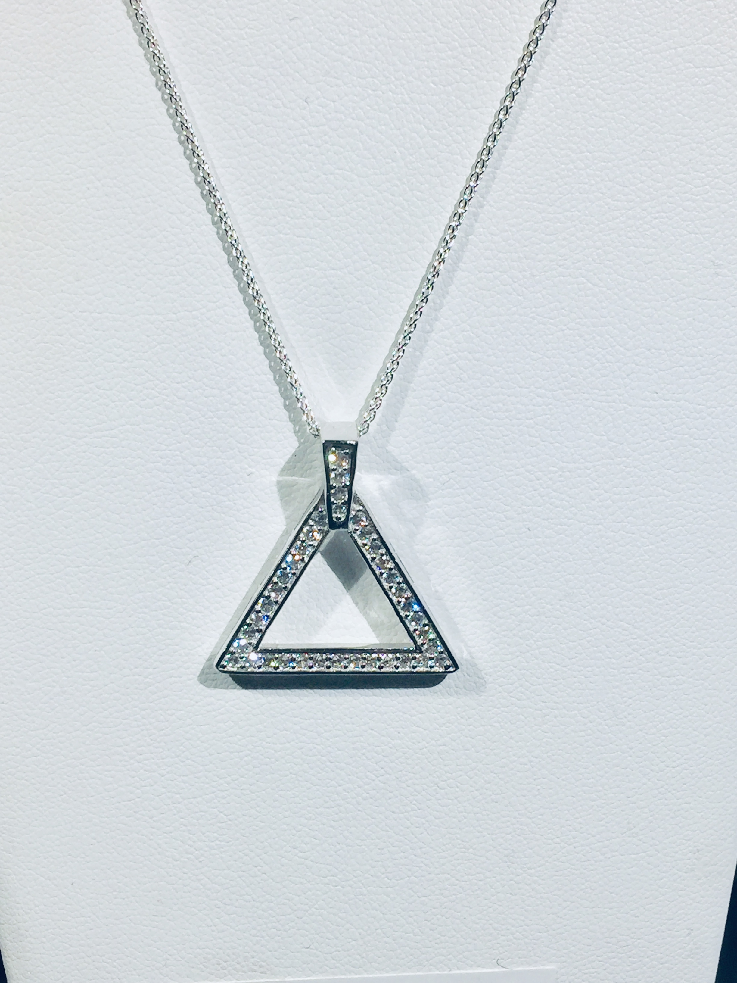 New Sterling CZ Pyramid Extra Bling 00065