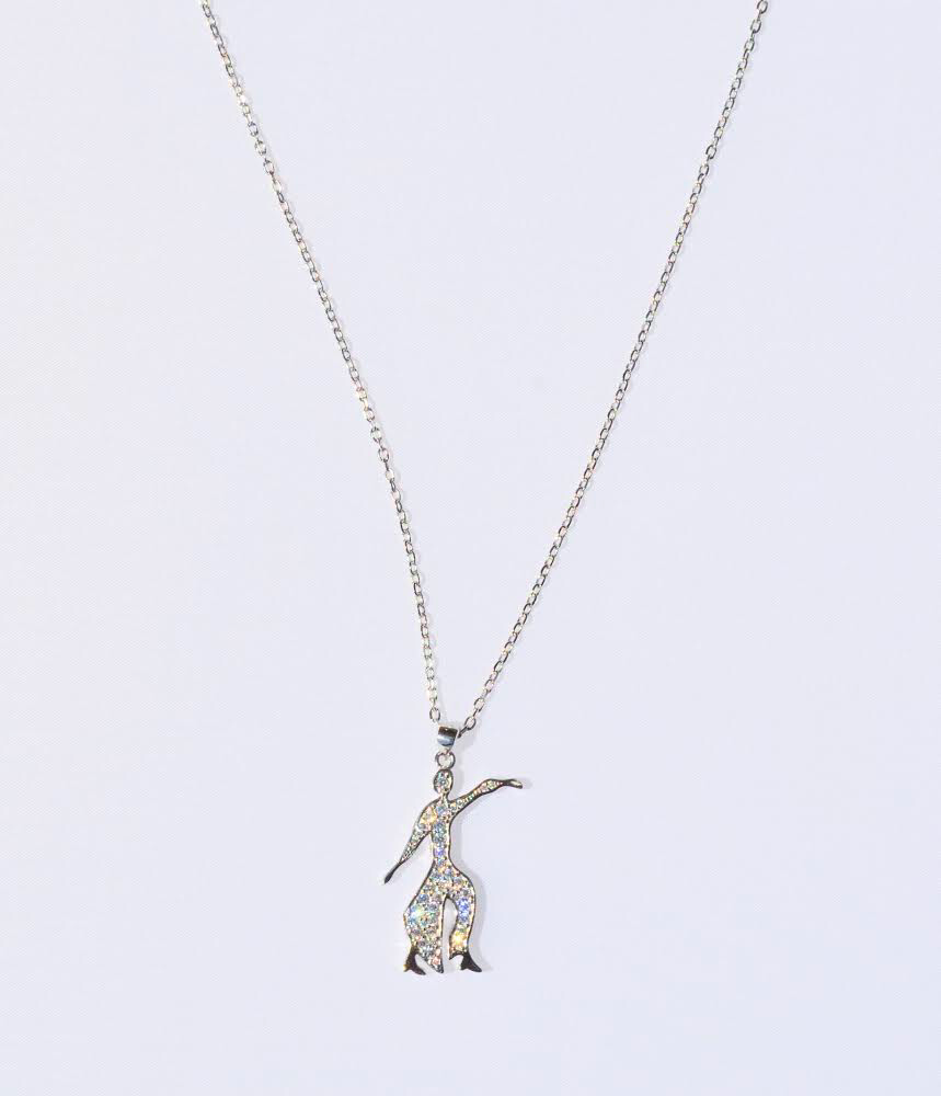 Sterling CZ Fortitude Necklace 00078
