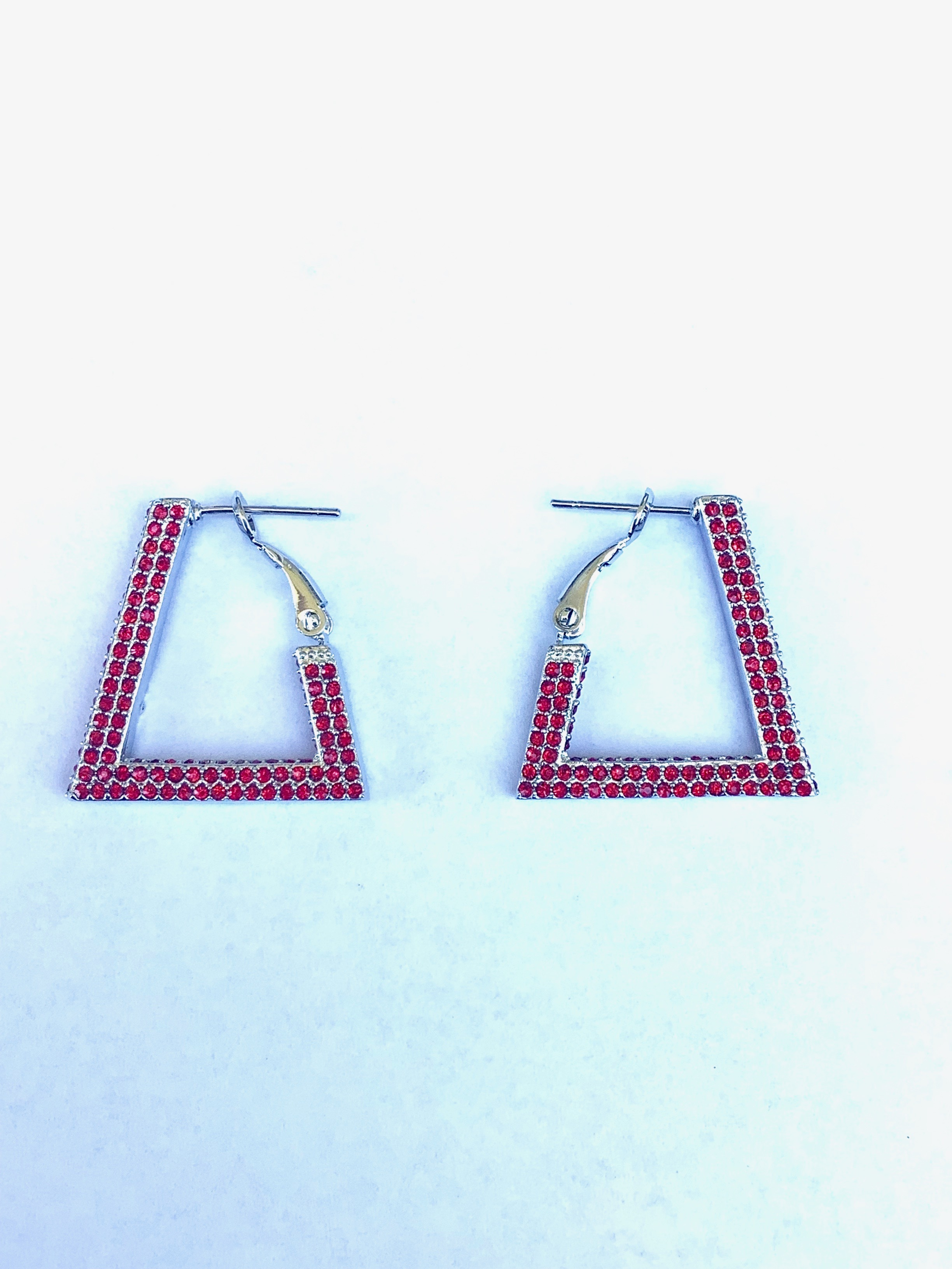 Red Bling Crystal Earrings 00084