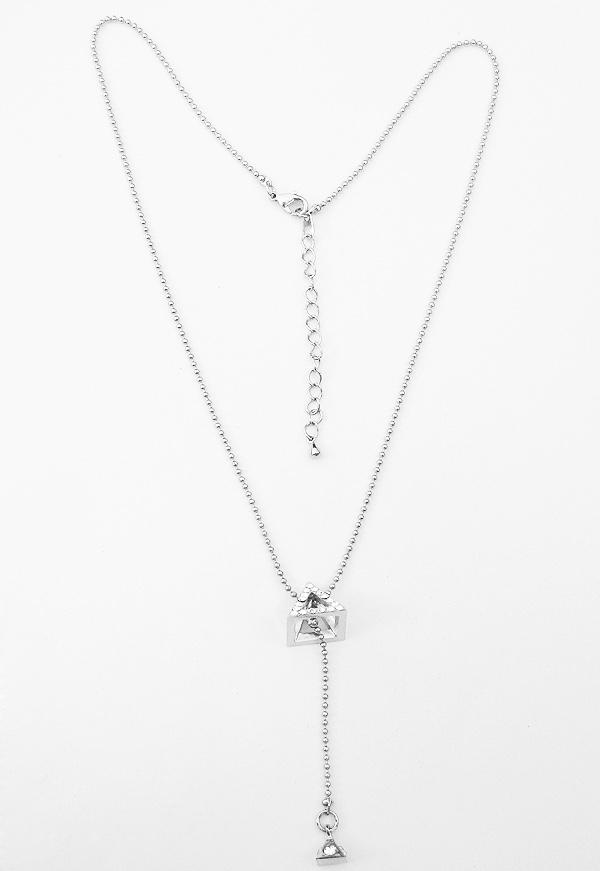 Double Drop Pyramid Necklace 00052