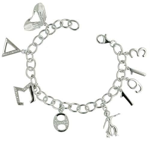 Sterling DST Charm Bracelet 00106