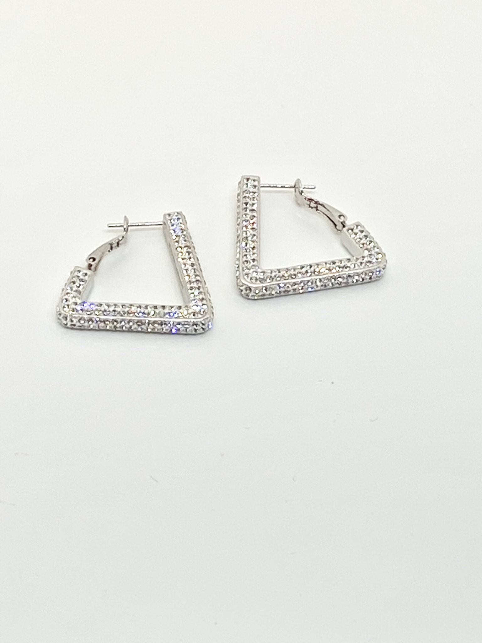 Bling Clear Earrings ALL Four sides. 00128