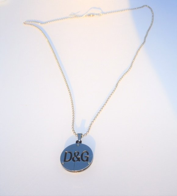 D & G Unisex - Mens 30 inch Stainless Designer Pendant 00051