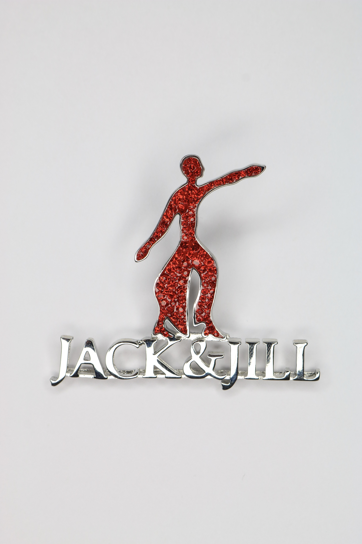 New Foritiude Jack N Jill Red Enamel The Silver Pin 00061