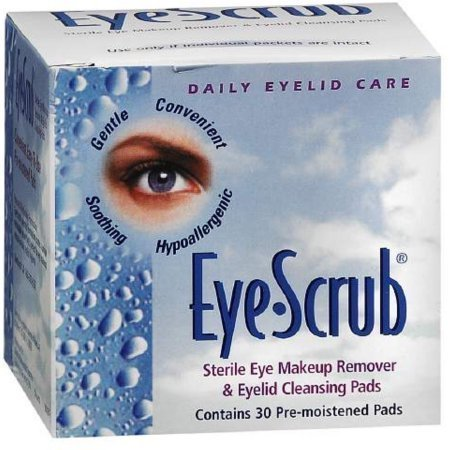 Eye Scrub Sterile Eye Makeup Remover & Eyelid Cleansing Pads 30 pack