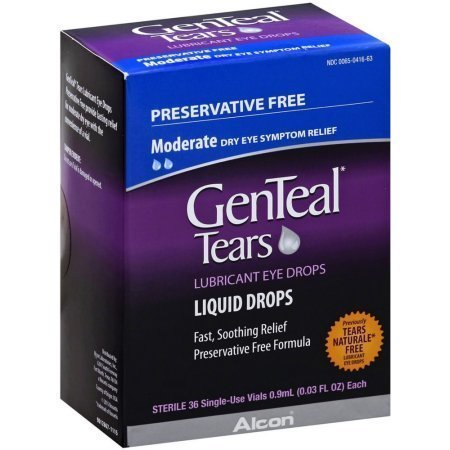 GenTeal Lubricant Eye Drops Sterile Single-Use Vials 36 pack