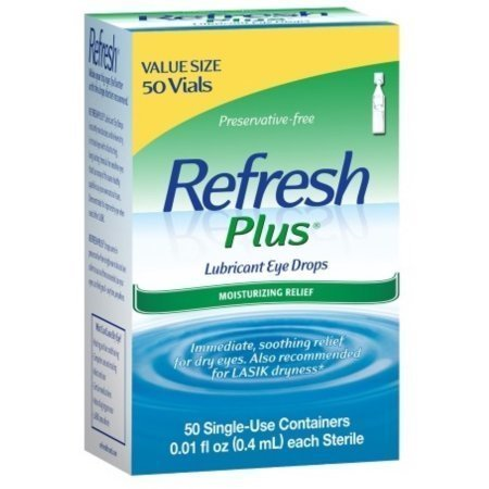REFRESH PLUS Lubricant Eye Drops Single-Use Containers 50 Each
