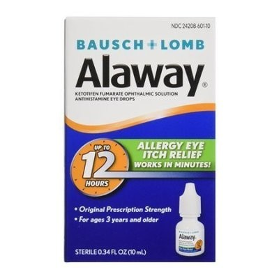 Bausch And Lomb Alaway Antihistamine Allergy Itch Relief Eye Drops, 0.34 Oz