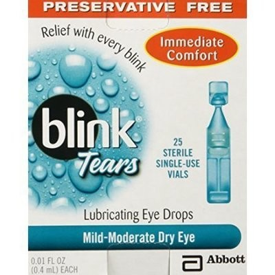 Blink Tears Lubricating Eye Drops Preserative Free, 25 Count