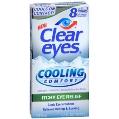 Clear Eyes Cooling Comfort Itchy Eye Relief Eye Drops 0.50 oz