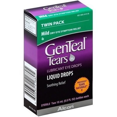 GenTeal Twinpack Eye Drops, Mild 0.5 oz,