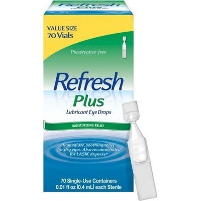 REFRESH PLUS Lubricant Eye Drops Single-Use Containers 70 Each