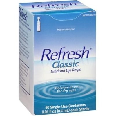 REFRESH Classic Lubricant Eye Drops Single-Use Containers 50 Each