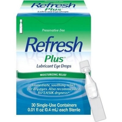 REFRESH PLUS Lubricant Eye Drops Single-Use Containers 30 Each