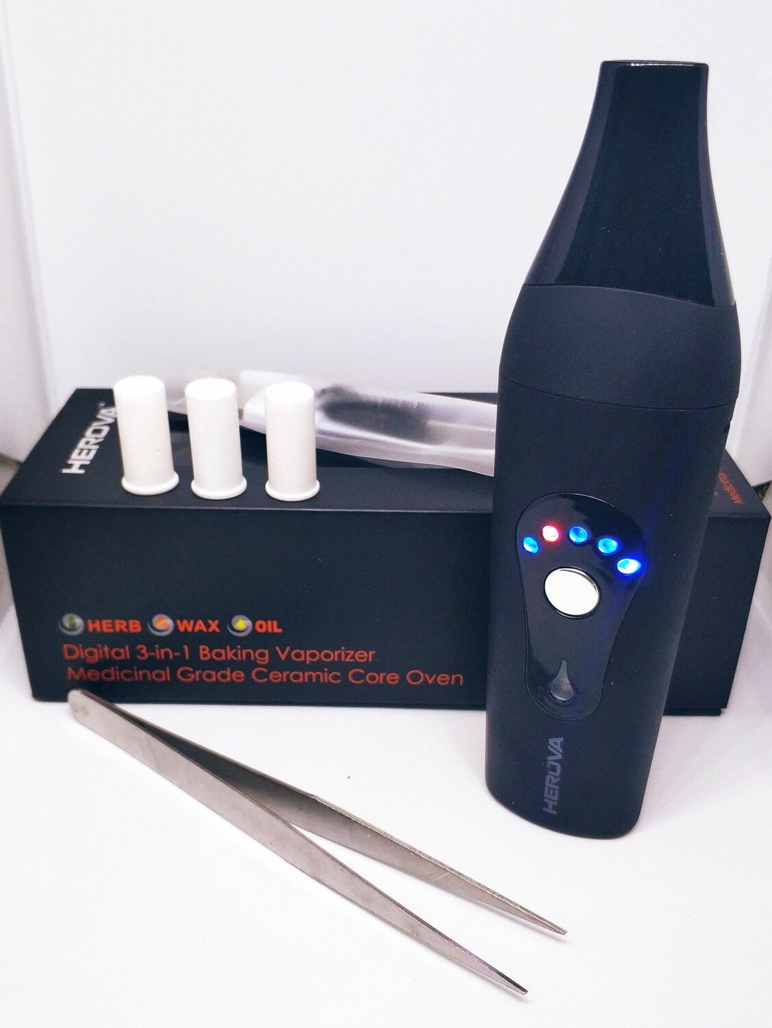 3 in 1 ceramic chamber Vaporizer - dry herbs, oil, extractions