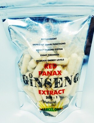 RED PANAX GINSENG ROOT EXTRACT 200:1 in CAPSULES