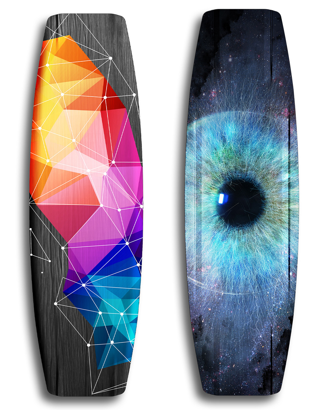 Slider wakeboard - Vivid custom graphics - Wood core - Triaxial fiberglass construction